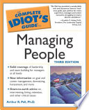 The Complete Idiot S Guide To Managing People 3e