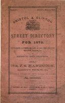Bristol   Clifton street directory