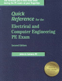 Quick Reference for the Electrical and Computer Engineering PE Exam Book