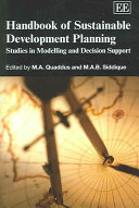 Handbook Of Sustainable Development Planning Book PDF