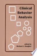 Clinical Behavior Analysis Book