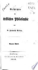 Geschichte der christlichen Philosophie: Theil. 1845 (XVI, 723 p.)
