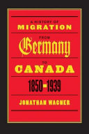 A History of Migration from Germany to Canada, 1850-1939 Pdf/ePub eBook