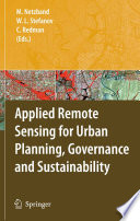 Applied Remote Sensing For Urban Planning Governance And Sustainability Book PDF