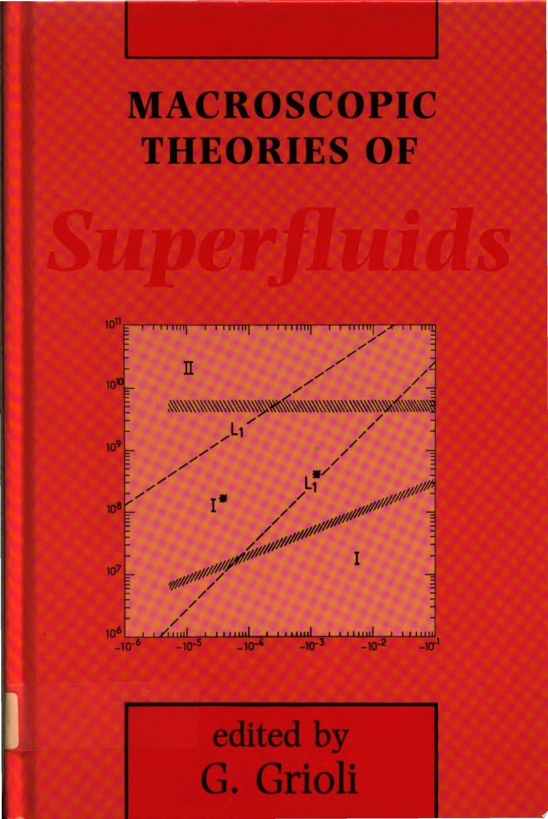 Macroscopic Theories of Superfluids