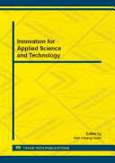 Innovation for Applied Science and Technology [Pdf/ePub] eBook