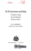 D H  Lawrence an Italy