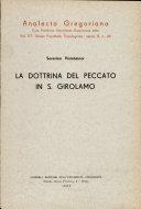 La dottrina del peccato in san Girolamo