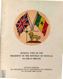 Conférence Donnée Par S.E. Le Président de la République Du Sénégal À L'Université D'Oxford, St. Anthony's College, 26 Octobre, 1961