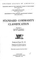 Standard Commodity Classification