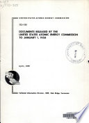 Documents Released by the United States Atomic Energy Commission to January 1  1950