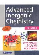 Pdf Advanced Inorganic Chemistry - Volume II Telecharger