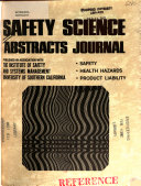 Safety Science Abstracts Journal Book PDF