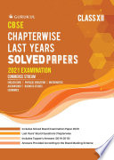 Chapterwise Solved Papers - Commerce: CBSE Class 12 for 2021 Examination