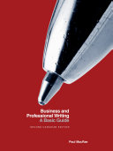 Business and Professional Writing  A Basic Guide   Second Canadian Edition