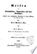Reisen in Beludschistan, Afghanistan und dem Pendschab während eines zwölfjährigen Aufenthalts in diesen Ländern, von 1826 bis 1838