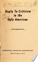 Reply to Criticism in The Ugly American