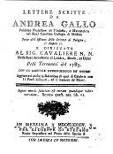 Lettere scritte     pelli terremoti del 1783 con un giornale meteorologico de medesimi  aggiuntavi anche la relazione di quei di Calabria  con li paesi distrutti  ed il numero de morti