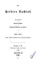 Goethe, Schiller, Klopstock, Lenz, Jean Paul, Claudius