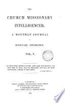 Church missionary intelligencer