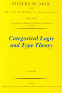 Categorical Logic and Type Theory