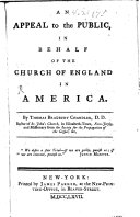 An Appeal to the Public  in Behalf of the Church of England in America