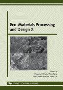 Eco Materials Processing And Design X Book PDF