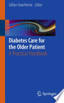 Diabetes Care for the Older Patient Book