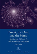 Proust, the One, and the Many