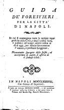 Guida de' forestieri per la città di Napoli