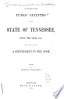 Public Statutes of the State of Tennessee
