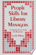 People Skills for Library Managers Book