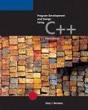Cover of Program Development and Design Using C++