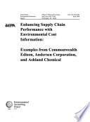 Enhancing Supply Chain Performance with Environmental Cost Information Book