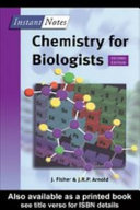 BIOS Instant Notes in Chemistry for Biologists