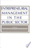 Entrepreneurial Management In The Public Sector