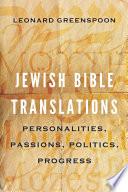 Jewish Bible Translations Book