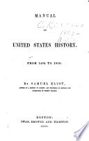 Manual of United States History