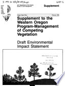 Supplement To The Western Oregon Program Management Of Competing Vegetation Book PDF