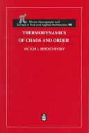 Thermodynamics of Chaos and Order