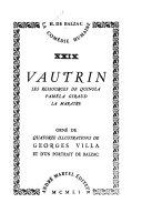 La comédie humaine: Vautrin. Les ressources de Quinola. Paméla Giraud. La marâtre
