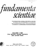 Fundamenta Scientiae Book