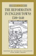 The Reformation in English Towns, 1500-1640 Pdf/ePub eBook