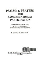 Psalms and Prayers for Congregational Participation