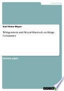 Wittgenstein and Moyal-Sharrock on Hinge Certainties