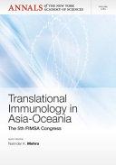 Translational Immunology in Asia Oceania Book