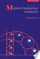 Fundamentals of Modern Elementary Geometry