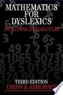 Mathematics for Dyslexics Book
