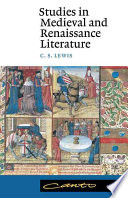 Studies in Medieval and Renaissance Literature Book