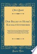Der Belief in Hume's Kausalitätstheorie